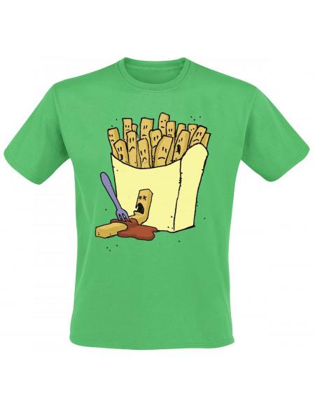 Chips Murder T-shirt vert
