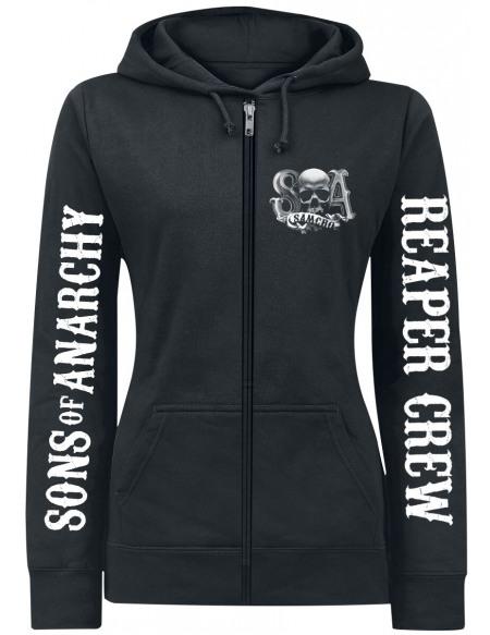 Sons Of Anarchy Reaper Crew Veste à Capuche Femme noir