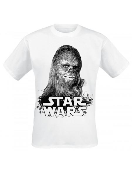 Star Wars Chewbacca T-shirt blanc