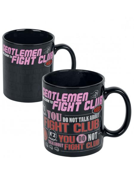 Fight Club Rules - Tasse mit Thermoeffekt Mug noir