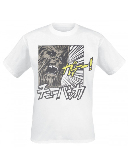 Star Wars Chewbacca T-shirt blanc
