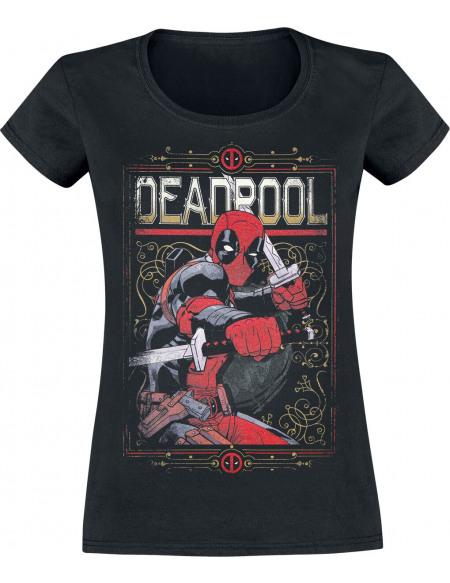 Deadpool Ready To Fight T-shirt Femme noir