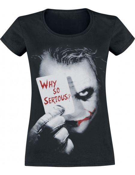 Le Joker Why So Serious? T-shirt Femme noir