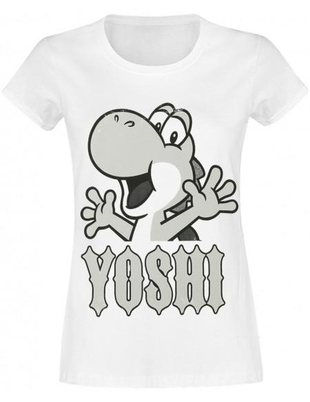 Super Mario Yoshi - Rocks T-shirt Femme blanc