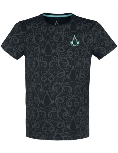 Assassin's Creed Assassin's Creed Valhalla - Nordic T-shirt noir