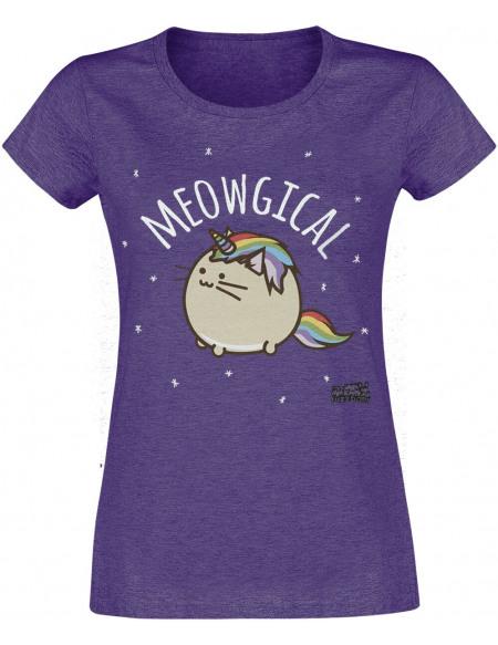 Fuzzballs Meowgical T-shirt Femme lilas chiné
