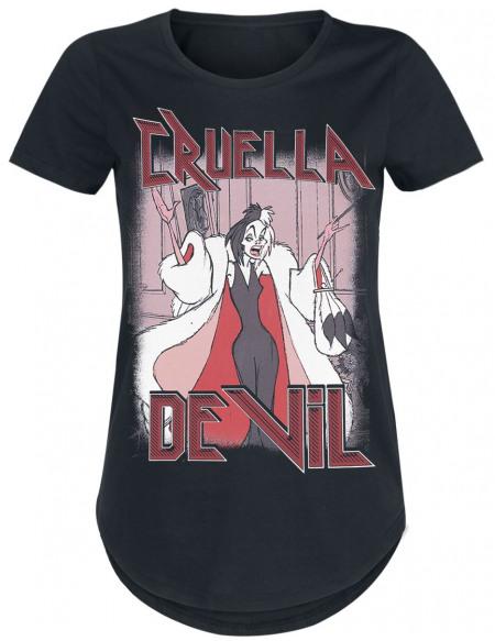 Les 101 Dalmatiens Cruella d'Enfer T-shirt Femme noir