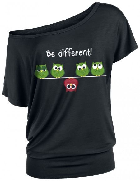 Be Different! T-shirt Femme noir