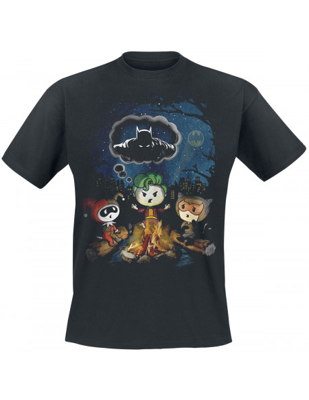 Batman Joker - Camp Fire T-shirt noir