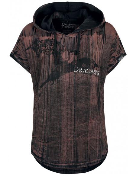Game Of Thrones Dracarys! T-shirt Femme rouge foncé