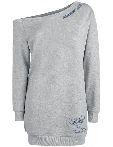 Lilo & Stitch Ohana Means Family Robe gris clair