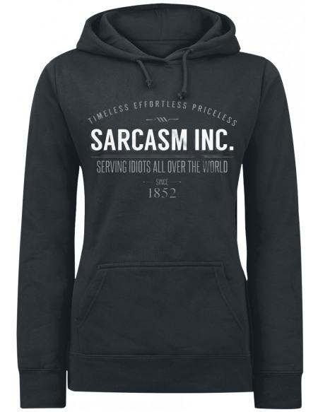 Sarcasm Inc. Sweat à Capuche Femme noir