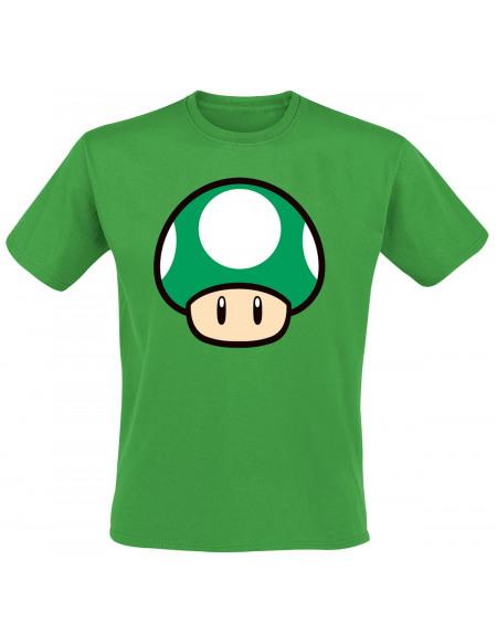 Super Mario Champignon T-shirt vert