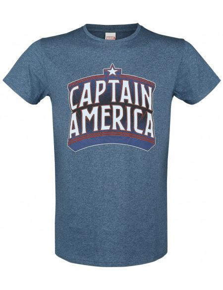 Captain America Retro T-shirt bleu foncé chiné