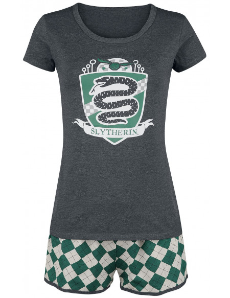 Harry Potter Slytherin Quidditch Pyjama vert/gris