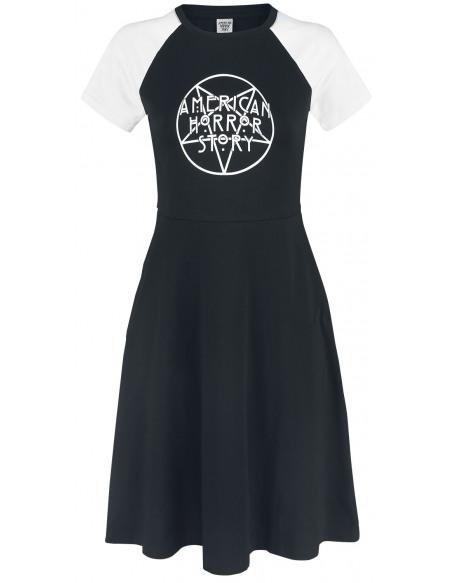American Horror Story Pentagram Robe noir/blanc