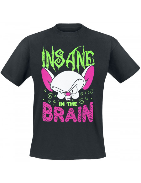 Animaniacs Minus et Cortex - Insane In The Brain T-shirt noir