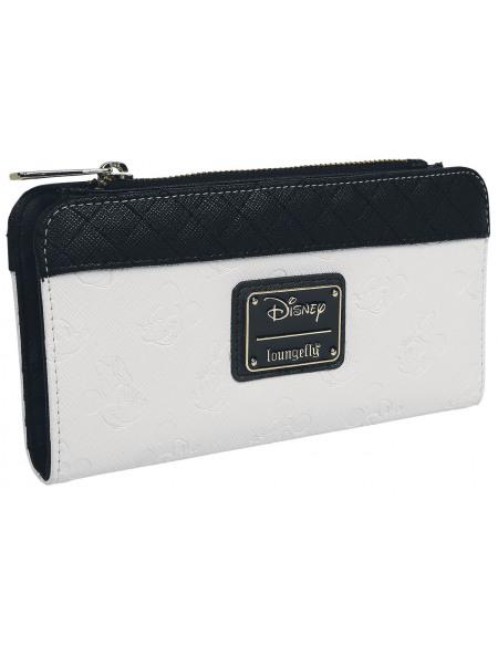 Mickey & Minnie Mouse Loungefly - Micky und Minnie Portefeuille beige/noir