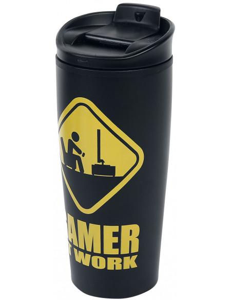 Gamer At Work Mug isotherme noir