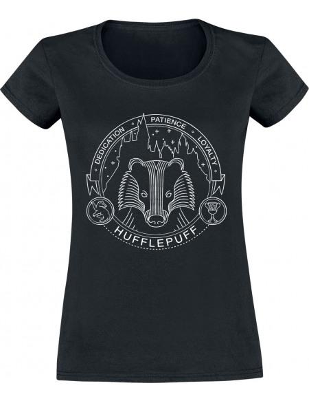 Harry Potter Poufsouffle - Sceau T-shirt Femme noir