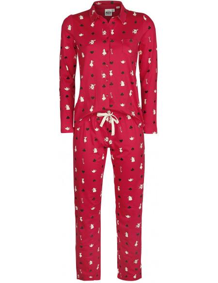 Alice Au Pays Des Merveilles Cartes Pyjama rouge