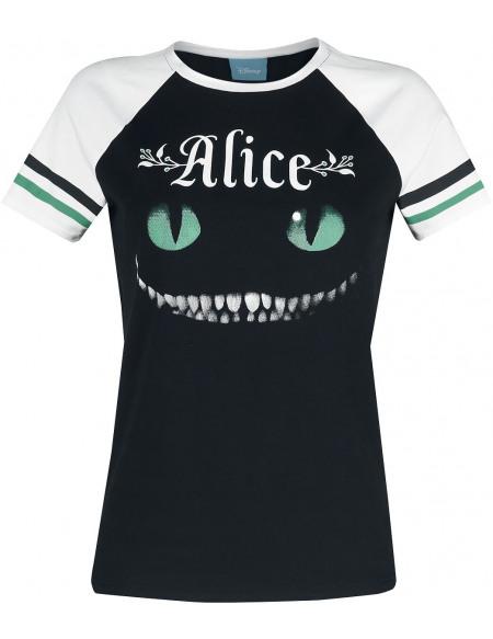 Alice Au Pays Des Merveilles Cheshire Cat T-shirt Femme noir