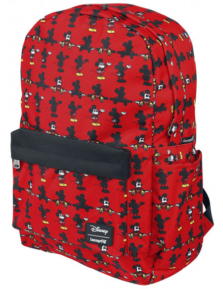 Mickey & Minnie Mouse Loungefly - Micky Maus Sac à Dos rouge
