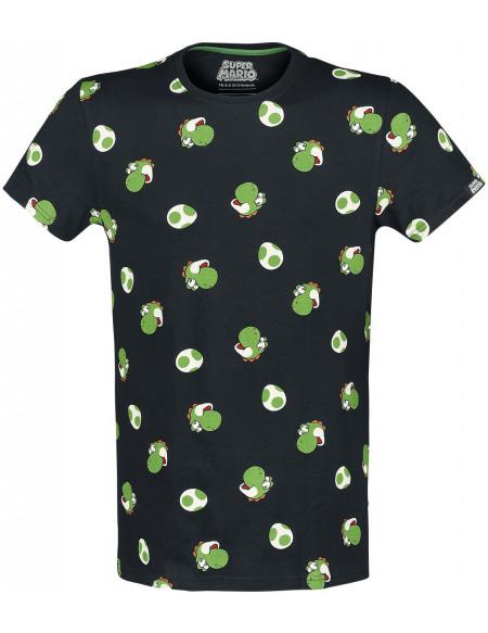 Super Mario Yoshi - Têtes T-shirt noir