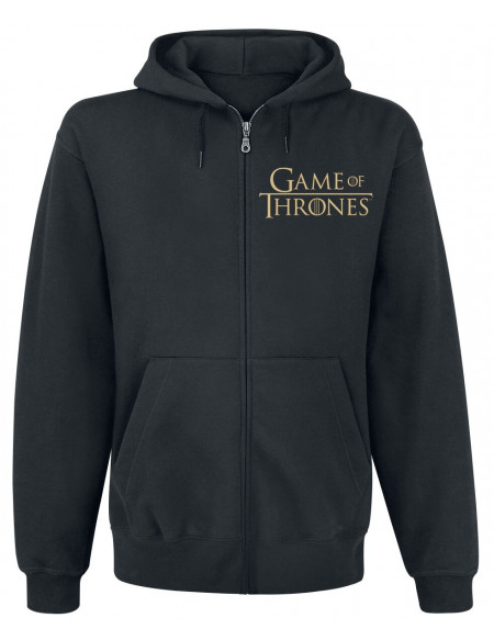 Game Of Thrones Maison Lannister Sweat Zippé à Capuche noir