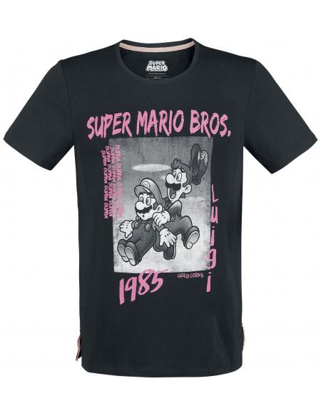Super Mario Mario & Luigi - 1985 T-shirt noir