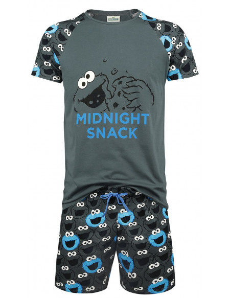 Sesame Street Cookie Monster - Midnight Snack Pyjama gris