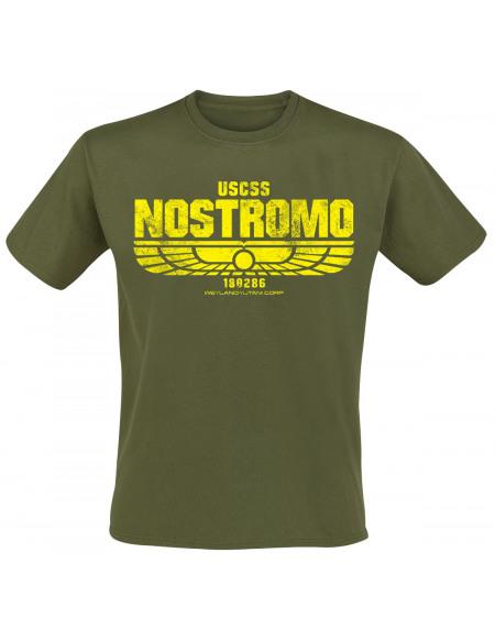 Alien Aliens - USCSS Nostromo T-shirt olive