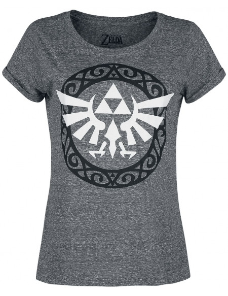 The Legend Of Zelda Wingcrest - Triforce T-shirt Femme gris chiné