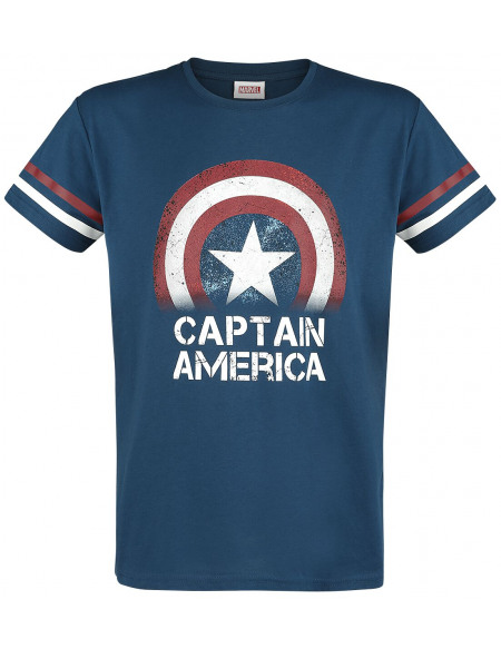 Captain America Légende T-shirt bleu