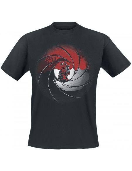 Deadpool Pose Armée T-shirt noir