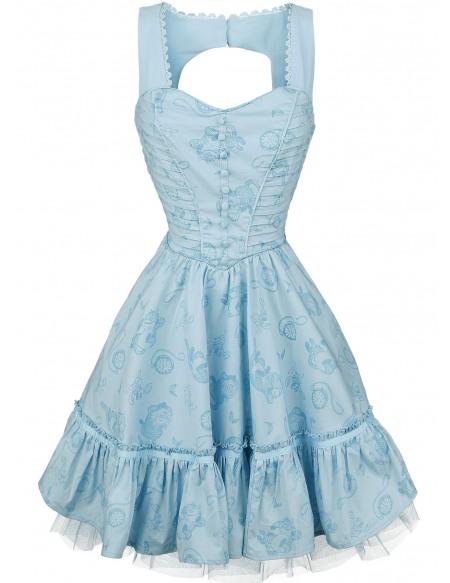 Alice Au Pays Des Merveilles De L'Autre Côté Du Miroir - Alice Classique Robe bleu