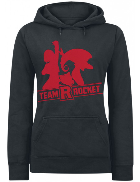Pokémon Team Rocket Sweat à Capuche Femme noir