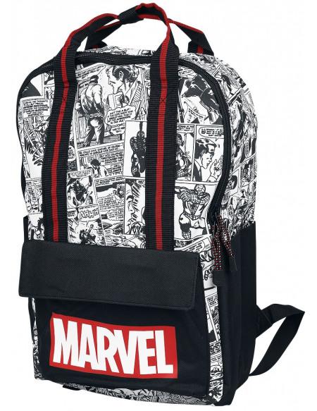 Marvel Personnage De Comics Sac à Dos noir/rouge/blanc