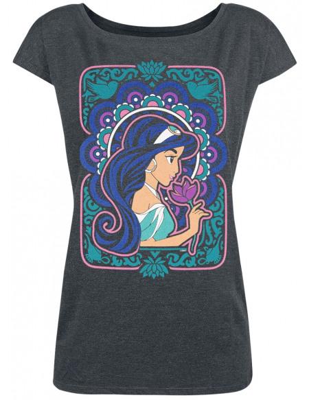 Aladdin Jasmine - Flower Power T-shirt Femme gris chiné