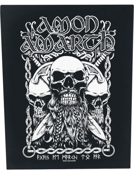 Amon Amarth Crânes Barbus Patch dossard multicolore