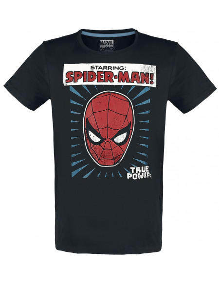 Spider-Man Starring T-shirt noir