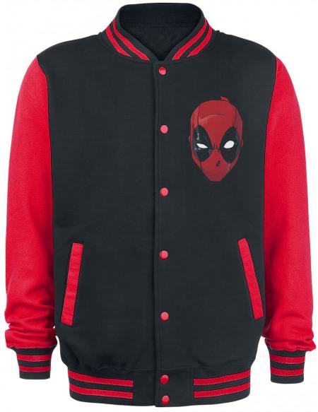 Deadpool Insupportable Veste de Football Américain noir/rouge
