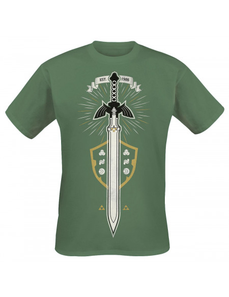 The Legend Of Zelda L'Épée De Légende T-shirt vert