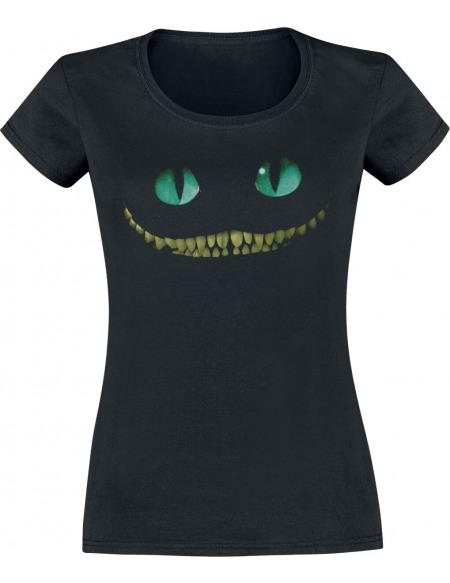 Alice Au Pays Des Merveilles Le Chat Du Cheshire - Smile T-shirt Femme noir