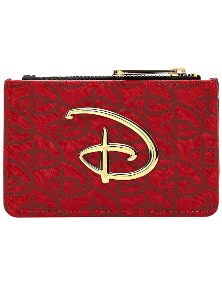 Walt Disney Loungefly - Logo Disney Porte-cartes rouge/noir