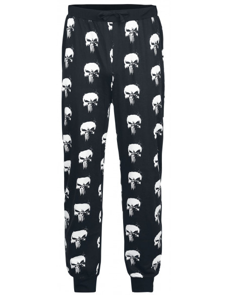 The Punisher Skull - Logo Bas de pyjama noir