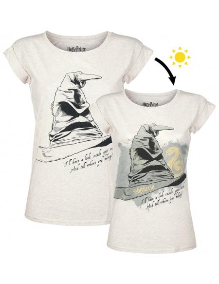 Harry Potter Le Choixpeau Magique - Serpendard UV T-shirt Femme blanc