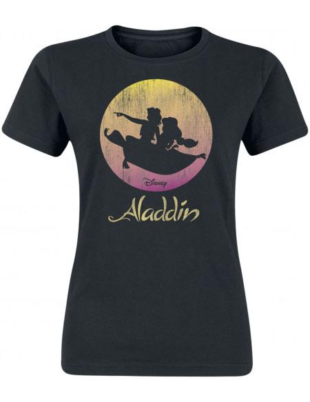 Aladdin Flying Sunset T-shirt Femme noir
