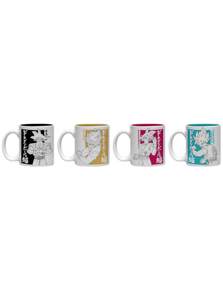 Dragon Ball Dragon Ball Super - Lot De Tasses Espresso Set de Mugs multicolore