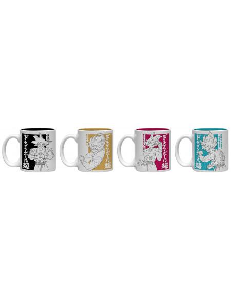 Dragon Ball Dragon Ball Super - Lot De Tasses Espresso Set de Mugs multicolore